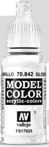 Vallejo Model Color: 003 Glanzweiss (Gloss White)  (842)